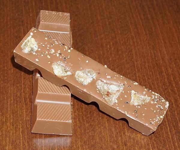 Ingwer-Orangenpfeffer Schokoladenriegel aus Edelvollmilchschokolade