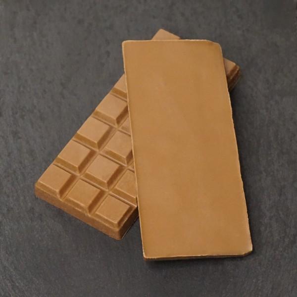 Orange Tafel aus Edelvollmich Schokolade