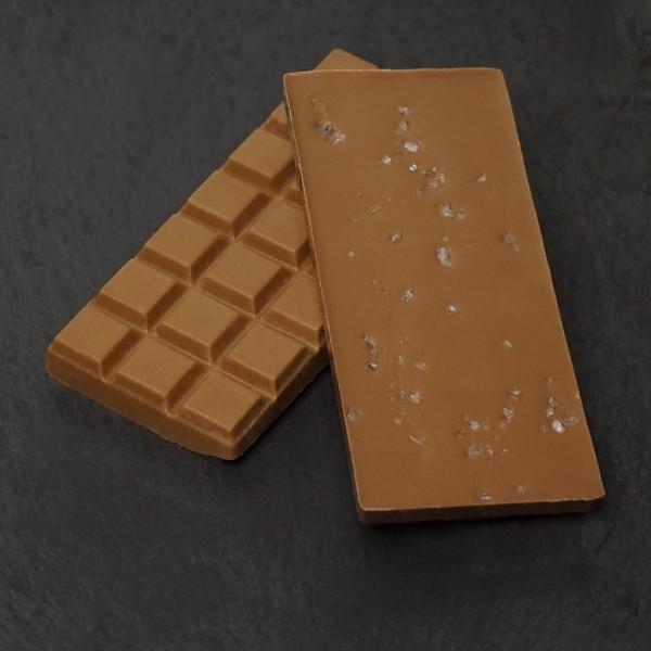 Meersalz Tafel aus Edelvollmilch Schokolade