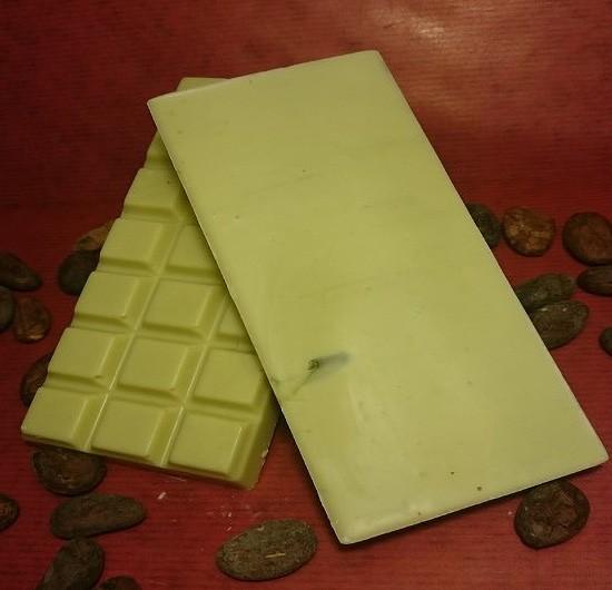 Pistazie Schokoladentafel aus weisser Schokolade