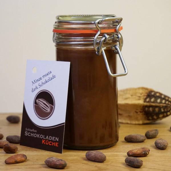 Brotaufstrich Minze meets dark Schokolade