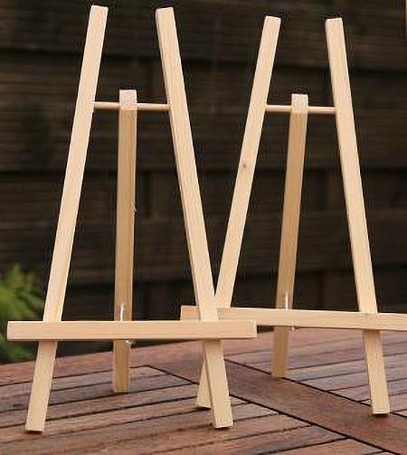Holz-Staffelei aus Kiefer unbehandelt