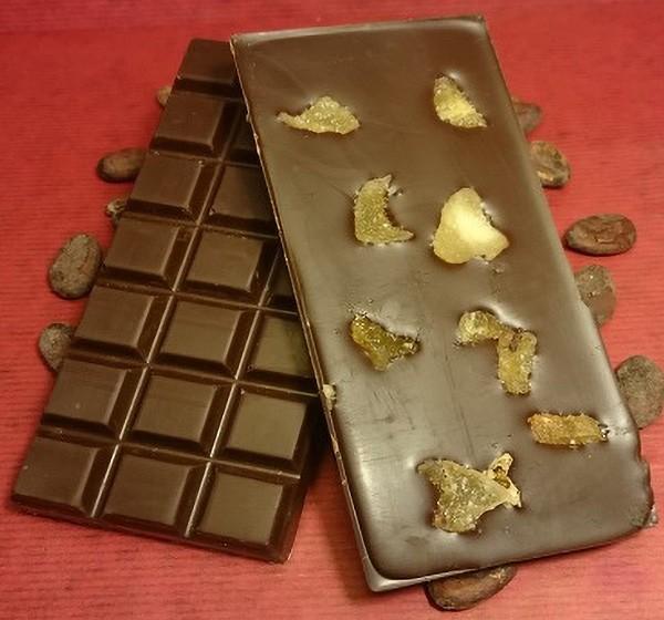 Ingwer Schokoladentafel aus Zartbitterschokolade