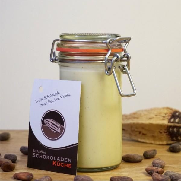 Brotaufstrich Weiße Schokolade meets Bourbon Vanille