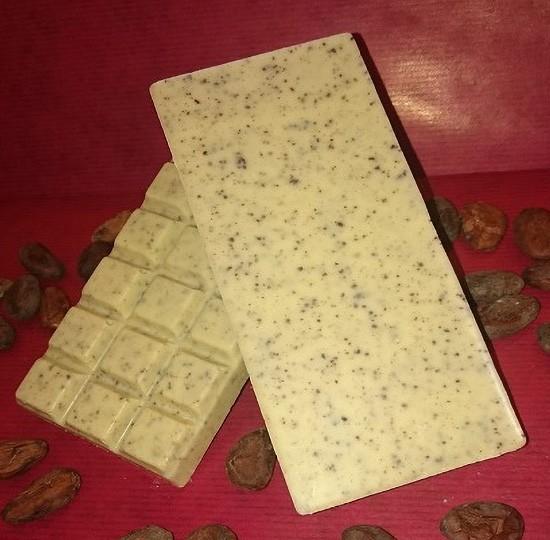 Milchkaffee Schokoladentafel aus weisser Schokolade