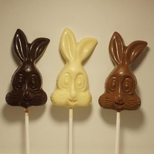 Hasen Kopf Schokoladenlutscher