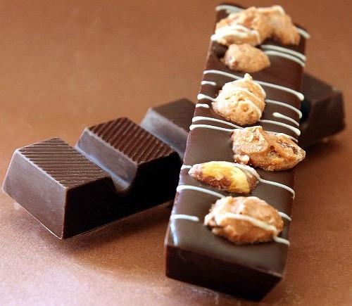 Gebrannte Mandel Schokoladenriegel Zartbitterschokolade