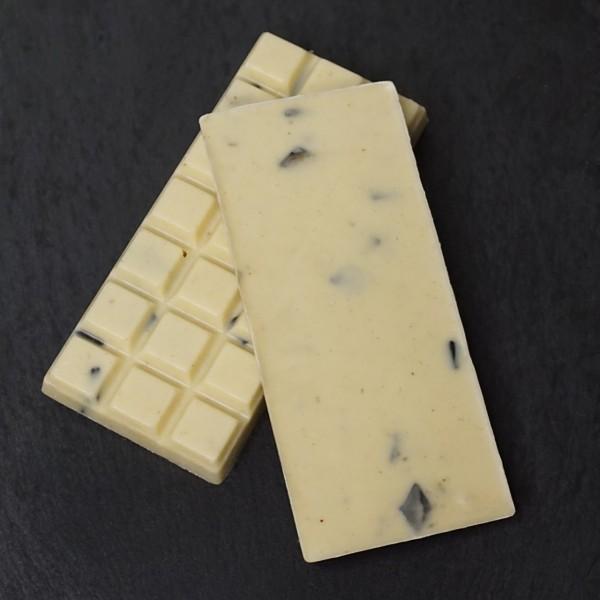 Lakritz Tafel aus Weisseschokolade